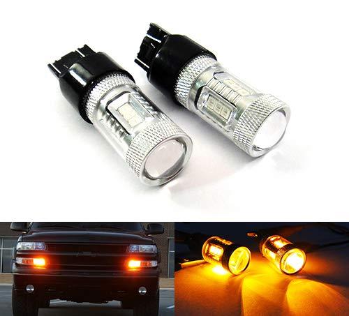 2 x Amber 182 P27W 180 P27/7W PY27/7W Bombilla Samsung LED Luz lateral Indicador de giro de señal de parada de luz diurna DRL