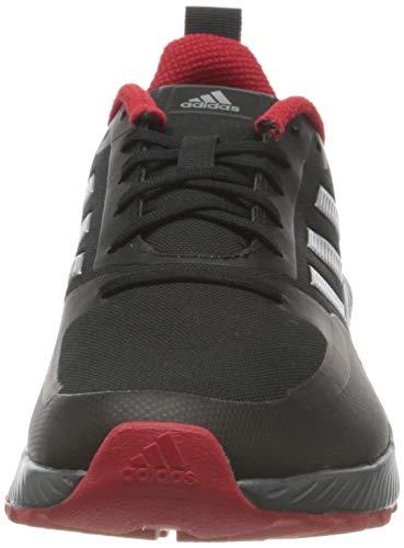 adidas Runfalcon 2.0 TR, Sneaker Hombre, Core Black/Silver Metallic/Grey, 44 EU