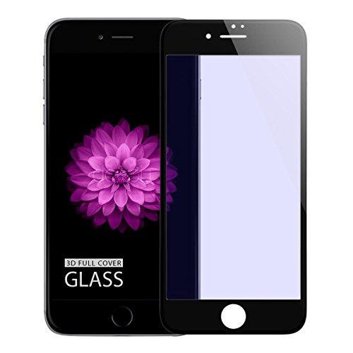 doupi FullCover Pellicola Protettiva per iPhone 6 Plus / 6S Plus (5,5 Pollici), Premium 9H HD Protettiva Protezione dello Schermo Tempered Glass, Nero