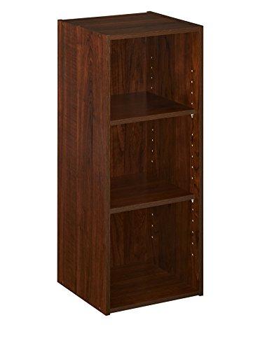 ClosetMaid 1305 Stackable 3-Shelf Organizer, Dark Cherry