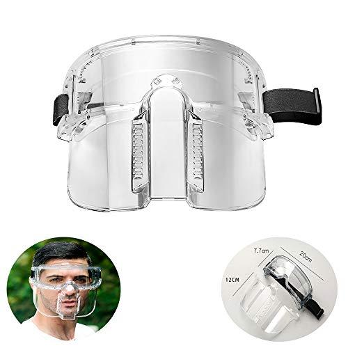 Protectores faciales Protectores contra Salpicaduras, antiparras Transparentes a Prueba de Polvo a Prueba de Saliva con Desmontable para Trabajos de Limpieza al Aire Libre