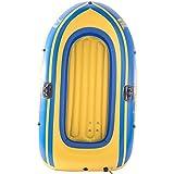 NEHARO Kayaks 2 Persona en Barco Inflable Kayak Engrosado CLORURO DE POLIVINILO Barco Inflable de Rafting al Aire Libre Durable para la Playa (Color : Yellow, Tamaño : 192x115cm)