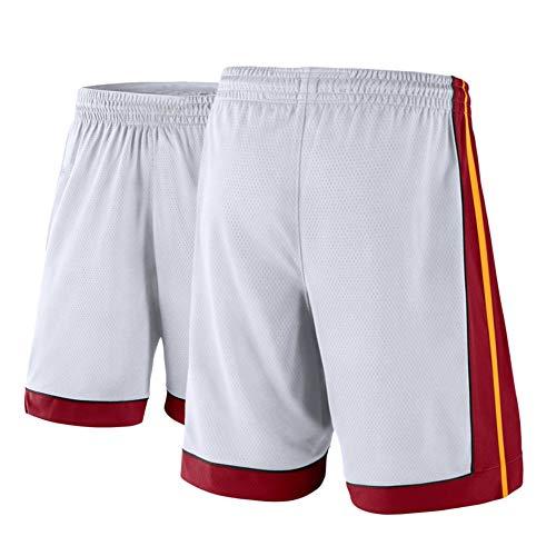 FGRGH # 22 hēāt būtlér ballball Shorts para Hombres, Pantalones Cortos de Baloncesto atlético de los Hombres Malla de Malla, Transpirable y Quickdry (M ~ 2XL) White-M