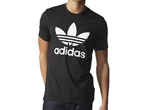 adidas Originals Men's Trefoil Tee, Small, Black