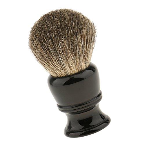 MagiDeal Brosse de Rasage à Barbe en Cheveux Sangliers Poignée en Résine Durable Blaireau à Raser Pour Nottoyage Mousse Savon Crème du Visage