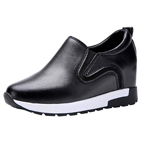 BRISEZZ Retro dames vrijetijdsschoenen leder vrouwen ronde toe suède schoenen platte jobs werkschoenen vrije tijd lederen schoenen sport platform sneakers elegante plateauschoenen comfortabele vermoeidheidsganger