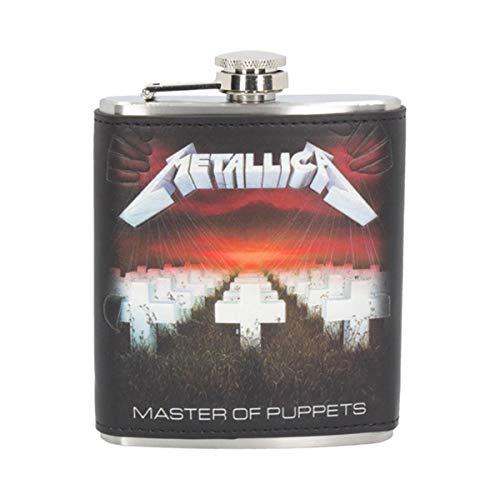 Nemesis Now Metallica Master of Puppets - Petaca (12,5 cm), Color Negr