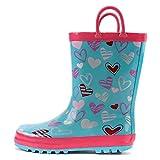 ADDYZ Niños impermeables botas de goma 3D tiburón de dibujos animados tiro zapatos de lluvia-11, MULTI
