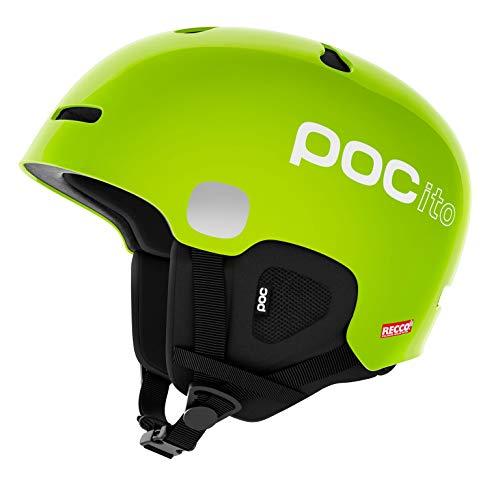 POC POCito Auric Cut Spin Helmet, Fluorescent Yellow/Green, X Small