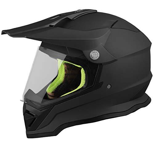 Crosshelm Motocross Enduro RALLOX 819 Helm Größe L Motorradhelm Integralhelm schwarz matt mit Visier