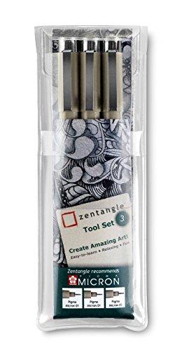 Zentangle Kit de bolígrafos para dibujo tipo zentangle (lote de 3)