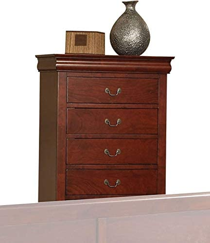 Acme Louis Philippe III Chest 19526 in Cherry Finish Long Beach New sales Mall