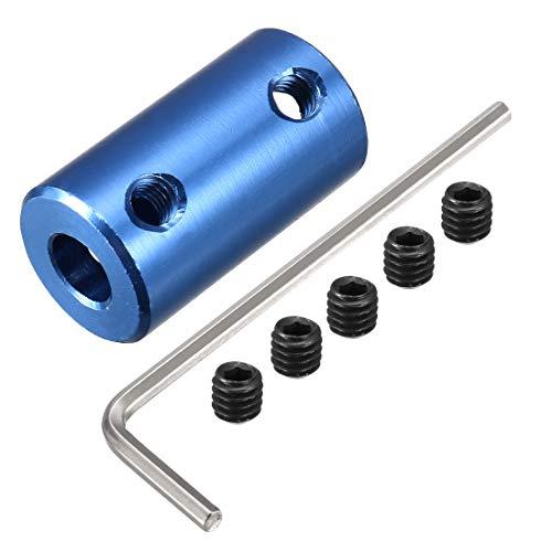 sourcingmap 6mm à 7mm Alliage Aluminium DIY Arbre Moteur Couplage Joint Raccord pour Électrique Voiture Jouet