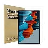 Simpeak 2-Packs Cristal Templado Compatible para Samsung Galaxy Tab S7 2020, Protector de Pantalla de Cristal Templado Premium Complet Bubble Free/HD/Anti-Huella, 2Pcs