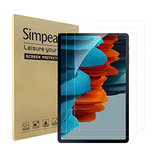 Simpeak 2-Packs Cristal Templado Compatible para Samsung Galaxy Tab S7 2020, Protector...