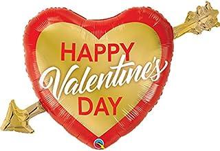 Qualatex Valentines Golden Arrow Foil Balloon, 39-Inch Size