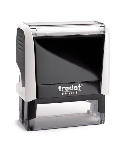 Stempel printy 4913 (weiss) mit Wunschtext und individueller Textplatte, 6zeilig, 57X21mm groß