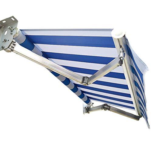 Toldo,Toldo telescópico,Apertura y Cierre Manual 200X150CM Paño Impermeable Engrosado + Manivela Resistente al Viento y al óxido + Anti-UV