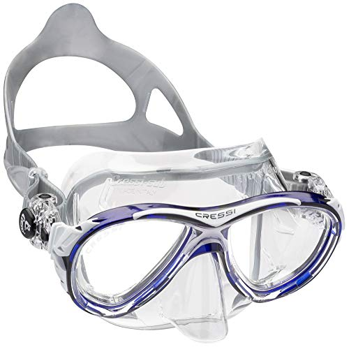 Cressi Eyes Evolution Crystal - Gafas de Buceo Azul Blau/Transparent Talla:Medium
