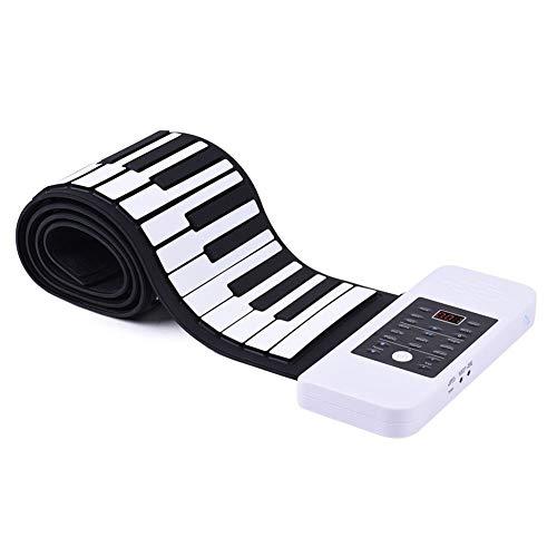 """""""N/A"""" Elektronisches Klavier von Hand aufgerollt aus Silikon, klappbar, 88 Tasten Klavier aufgerollt mit Akkorde, Weiß"""