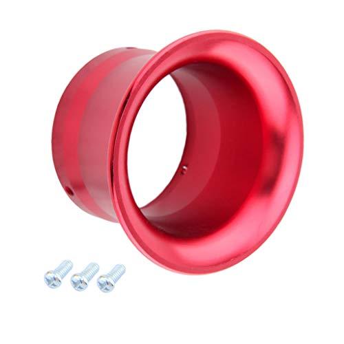 KESOTO 50mm Vergaser Luftfitler Ansaugtrichter Aluminium Trichter für PWK24/ 26/28/ 30 - Rot