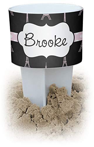 RNK Shops Black Eiffel Tower White Beach Spiker Drink Holder (Personalized)
