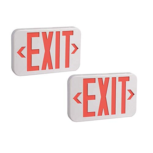 AmazonCommercial LED Emergency Exit Sign, UL Certified, 2-Pack, Double Face Exit with Battery Backup Arkansas
