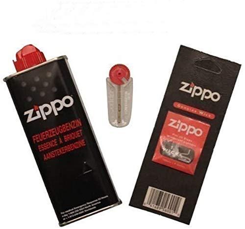 Original ZIPPO Set - 6 x Feuersteine - 2 x Dochten / Flints - 1 x Benzin
