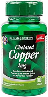 Holland & Barrett Chelated Copper 2mg Tablets 100's