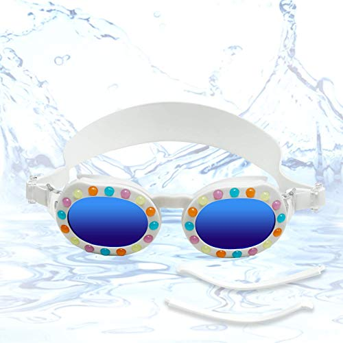 Funní Día Gafas de natación para niños y gafas de sol polarizadas, sin fugas, antivaho, visión transparente, gafas de natación con protección UV para niños