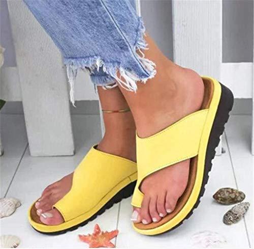 Orthopädische Sandalen für Damen zur Unterstützung des Fußgewölbes, weiche...