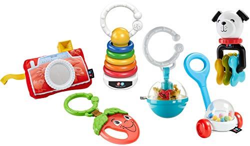 Fisher-Price Conjunto de Sonajeros y Mordedores, Juguetes Regalo para Bebés +3 Meses (Mattel FBH63)