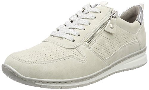 Jenny Damen Sapporo Sneaker, Weiß (Offwhite, Silber), 38 EU (7.5 US)