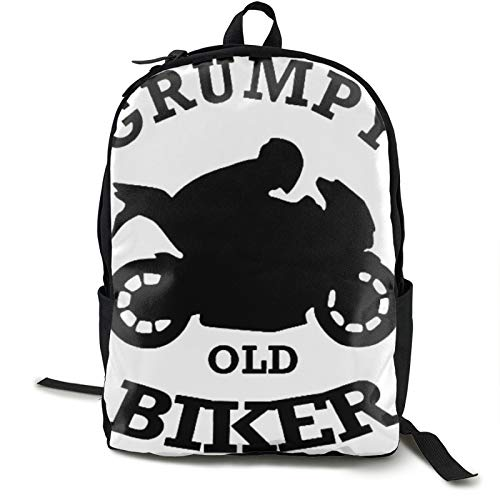 Grumpy Old Biker Funny Travel Laptop Mochila para hombre para acampar escalada ciclismo