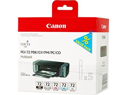 Canon original - Canon Pixma Pro 10 S (PGI-72 / 6403 B 007) - Tintenpatrone MultiPack black photocyan photomagenta gray