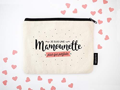 Pochette Mamounette | Mamounette plus que parfaite | trousse coton, pochette maman, pochette coton, 20x15cm