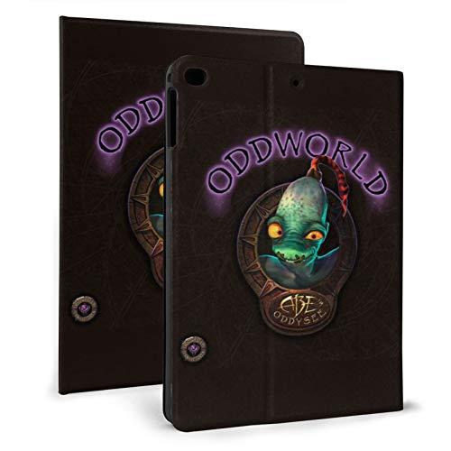 Juego de acción Abe's Exoddus Mudokons Glukkons Soulstorm day one - Funda para iPad de doble pliegue con soporte de 7ª generación multiángulo ultra fino impreso en 3d
