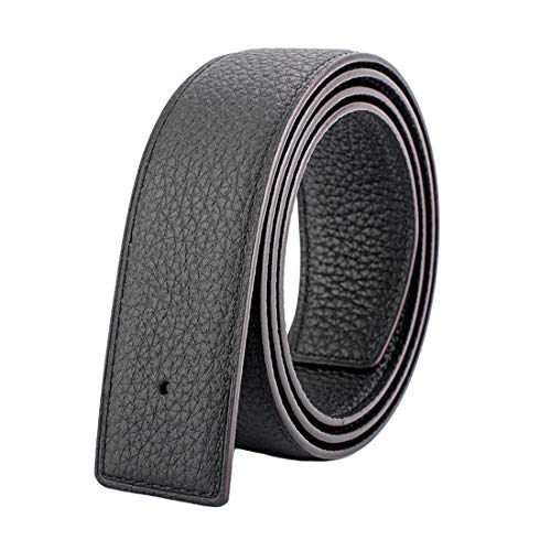 """Vatee's Reversible Genuine Leather Belts For Men/Women Replacement Belt Strap Without Buckle 1.25""""(32mm) Wide 39""""(100cm) Long Black"""
