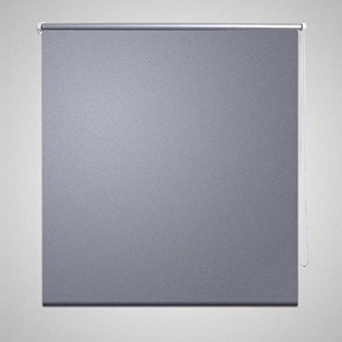 UnfadeMemory Persiana Enrollable,Persiana Veneciana,Cortina Enrollable,Protección de Privacidad,Decoración de Habitación Oficina,Reducción de la Luz 100% (100x175cm, Gris)