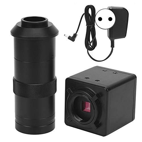 Accesorios de cámara de microscopio industrial de alta resolución Cosiki 2MP para CCD CMOS VGA con lente con montura C de zoom(EU PLUG)