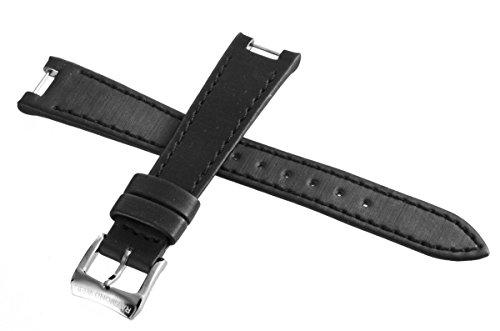 Genuine Raymond Weil Geneve Black Fabric Watch Band cinturino con fibbia...