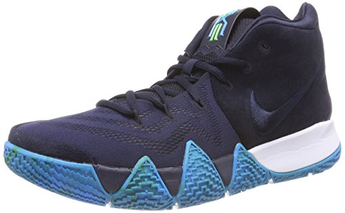 Nike Men's Kyrie 4 Basketball Shoes (13, Dark Obsidian/Black)