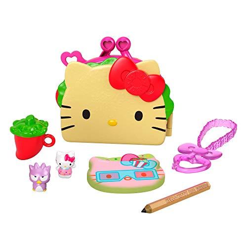 Hello Kitty Cofre con forma de taco con muñecos y accesorios de juguete (Mattel GVB33)