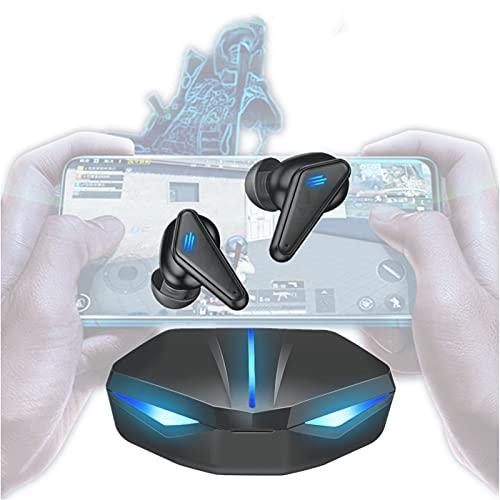 Fone de Ouvido Bluetooth para Jogos JINQII, Fone sem fio Gamer Com Luz de Respiração Colorida, Game  Music Dual Mode, Fone de Ouvido para Jogos para Posicionamento de áudio