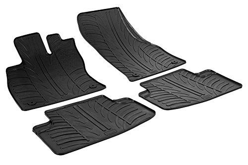 Gledring Set tapis de caoutchouc compatible avec Seat Leon 5F 5 portes 2013-2020 / Volkswagen Golf VII/VIII 5 portes 2012-2019 & 2020- (T profil 4-pièces + clips de montage)