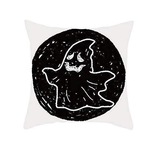 Funda de Cojín Decorativos Funda de Almohada Fantasma Cuadrado Terciopelo Suave Cojines Decoracion con Cremallera Invisible para Sofá Cama Decoración Hogar Funda de Cojín M28 Pillowcase+core,40x40cm