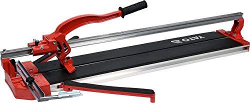 YATO Profi XXL Fliesenschneider mit Laser, max. Schnittlänge: 800mm, Diagonalschnittlänge: 597mm, bis 12mm Stärke, Schnittwinkel: 0-45°, stabiles Schneidrad, Fliesenschneidemaschine