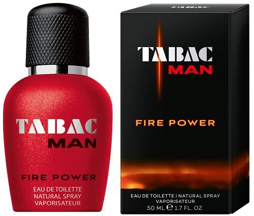Tabac® Man Fire Power | Eau de Toilette - energetisch - markant - explosiv - geballte Männlichkeit und Kraft, eingefangen in einem Duft für Abenteurer | 50ml Natural Spray Vaporisateur