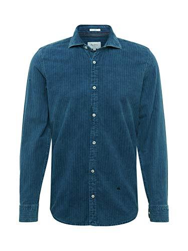 Pepe Jeans Dexter Camisa, Azul (Indigo 561), XXX-Large (Talla del Fabricante: XX-Large) para Hombre