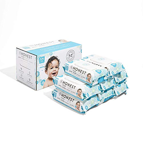 The Honest Company Baby Wipes - Pure and Gentle | Plant-Based | Alcohol, Fragrance and Paraben Free | Hypoallergenic Honest Wipes | 576 Count